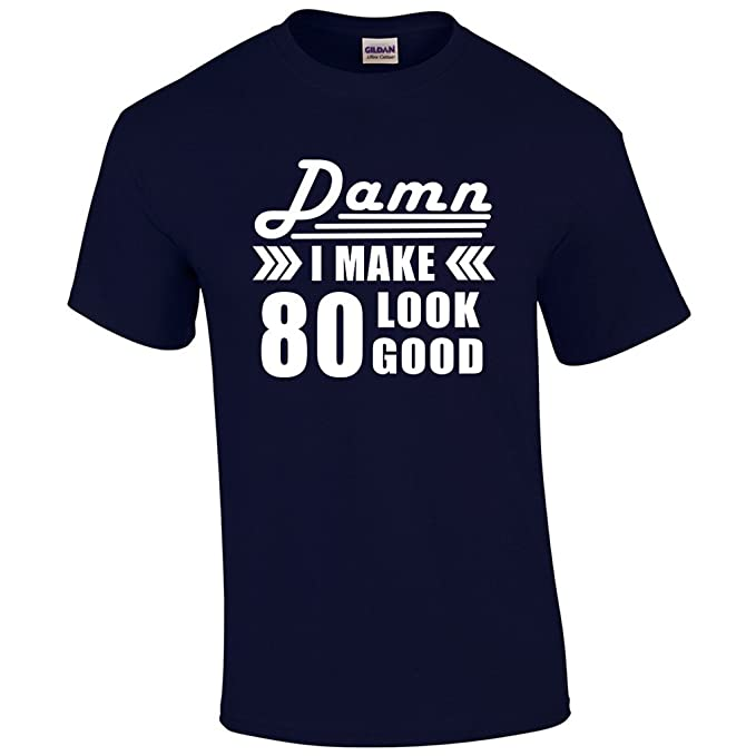 80th Birthday For Men Gift 80 Year Old Man Present T Shirt Amazonca Clothing Accessories