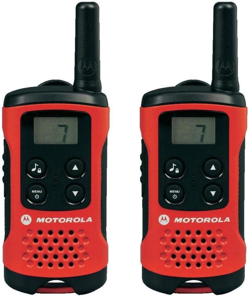 Motorola TLKR T41 Walkie-Talkie, Pantalla LCD, Naranja, paquete de 2 unidades: Motorola: Amazon.es: Electrónica