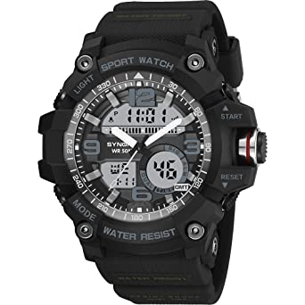 41f1f5c02 Buy Watches for Men On Sale, Sports Watch Multi-Function Dual Display Watch  Waterproof Outdoor Sports Everything Else, Black Online at Low Prices in  India ...