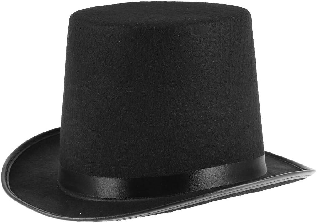 Magician Black Top Hat /& Magic Wand Props Set Fancy Party Dress Up Costume
