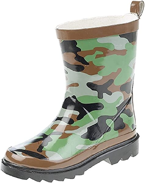 New Boys Novelty Camouflage Wellington Army Style Waterproof Rain Snow Wellies