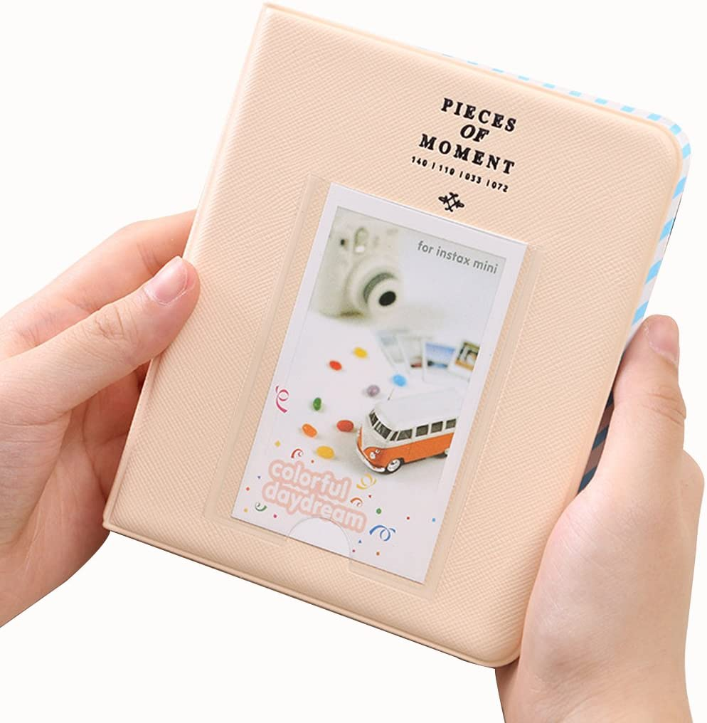 Fashion/Life 64 Pockets Photo Album Mini Instant Picture Storage Case Orange