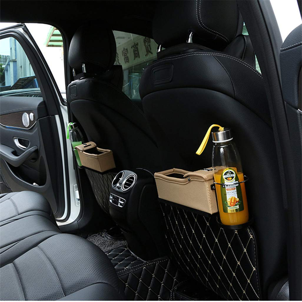 WEILYDF Aufbewahrungsbox Multifunktionale Leder Autositz Organizer Einfache Durable Cup M/ünze USB Ladelinie Aufbewahrungsbeh/älter,Treiber Seite