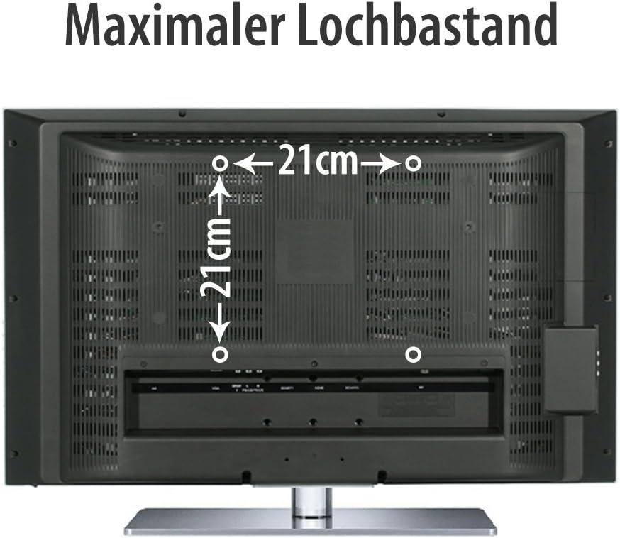 jeka TV o monitor Soporte Adecuado Para TV Y Monitores hasta 106 cm diagonal (46 pulgadas) también con normas VESA en cm: 7,5 x 7,5, 10 x 10, 20 x 10, 10