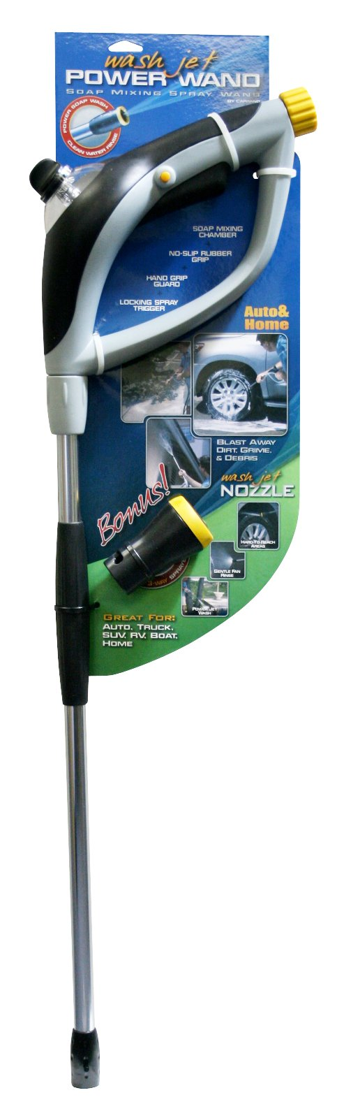 Carrand 92217 Wash Jet Power Wand with 3-Way Adjustable Nozzle