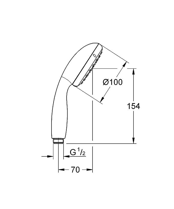 Grohe 27852000 - Teleducha, con un chorro, tecnología DreamSpray, acabado cromado StarLight: Amazon.es: Bricolaje y herramientas