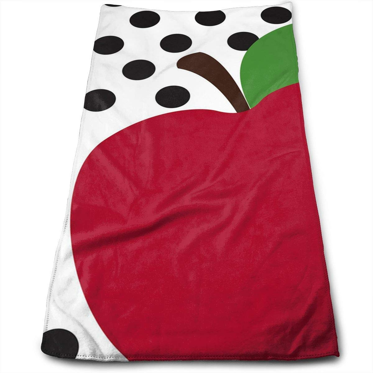 ERCGY Teacher's Apple Soft Polyester Large Hand Towel- Multipurpose Bathroom Towels for Hand, Face, Gym and Spa