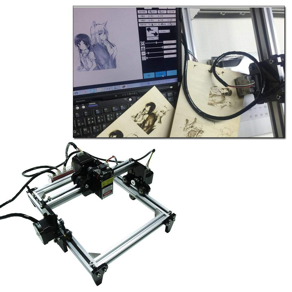 M/áquina de grabado 100-240VAC 2.5W DIY Mini Kit de impresora de m/áquina de corte de escritorio de corte Enchufe de la UE grabador l/áser