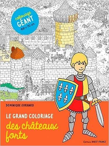 Coloriage Grand Chateau.Le Grand Coloriage Des Chateaux Forts Amazon Fr Ehrhard Dominique