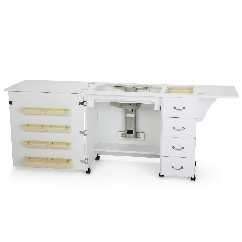 Arrow 98351 | Mobiletto Norma Jean per Macchina da Cucire | Colore: Bianco | Dimensioni: 207 x 50.8 x 77.5cm Arrow Cabinets 808-351