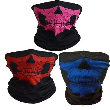 5cb683214d26 ToBe-U Seamless Multi Function Half Face Skull Tube Mask for Halloween