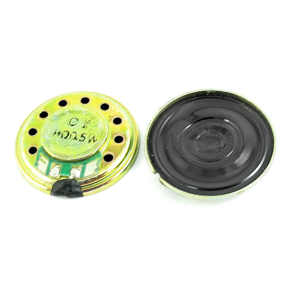 2 Pcs 0.5W 8 Ohm 20mm Diameter Round Magnet Speaker Loudspeaker Horn