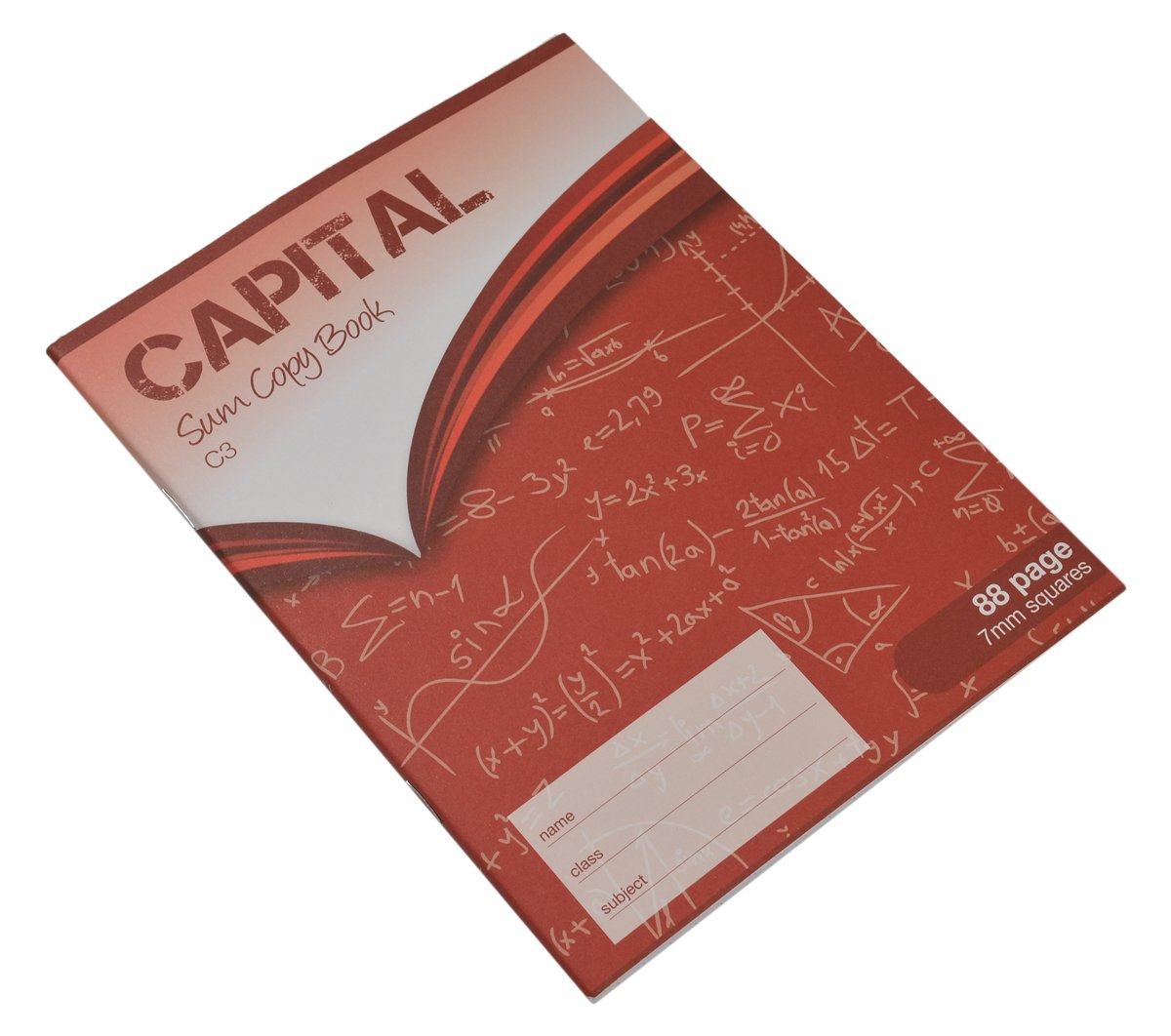 CAPITAL 8 x 6.5-Inch Printed S7 88 Page Sum Copy Book