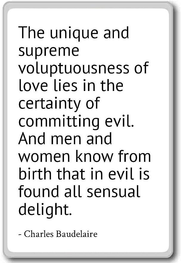 L Unico E Supreme Voluptuousness Di Charles Baudelaire