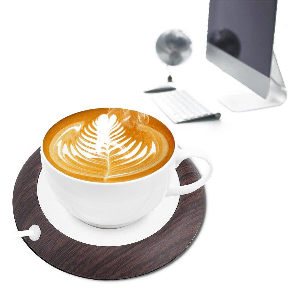 UniM Coffee Warmer USB Mug Warmer Beverage/Drink/Tea Warmer for Office/Home Use (Dark Wood Grain)
