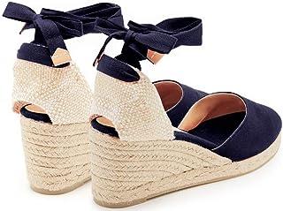 YOPAIYA Espadrilles Chaussures De Pêcheur Cheville Sangle Sandales Femmes Confortables Pantoufles Noires Dames Chaussures De Sport Respirant Lin Chanvre Toile Pompes