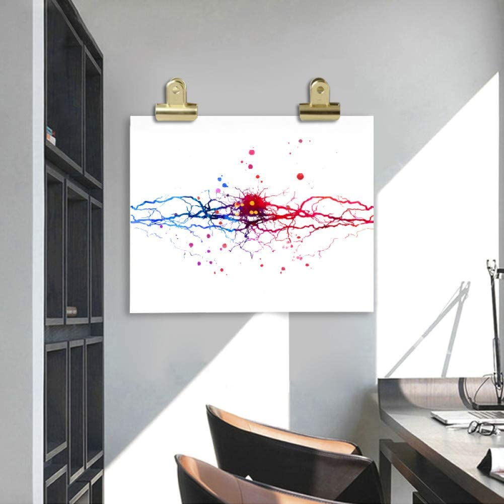 Cerveau Anatomie M/édecine Mur Art Toile Peinture Clinique Mur D/écor-40x60cm GUDOJK Peinture d/écorative Aquarelle Neural/Art de neurone Neuron Poster