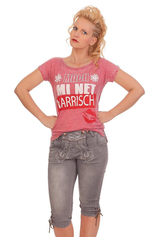 Trachten Damen Kniebundhose Jeans - BEA - grau