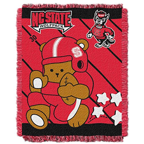 NCAA North Carolina State Wolfpack Fullback Woven Jacquard Baby Throw, 36