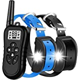 HISEASUN Dog Training Collar for 2 Dogs Waterproof Rechargeable Range 1400 Ft New 2020 Shock Collar for 2 Dogs with…