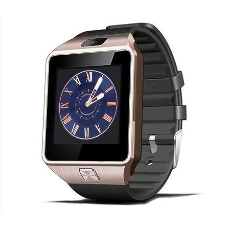 Hinmay DZ09 - Reloj inteligente con Bluetooth, compatible con tarjeta SIM TF con cámara,