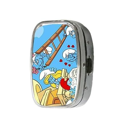 Amazon.com: the smurfs nice cartoon Pill Box On Square ...
