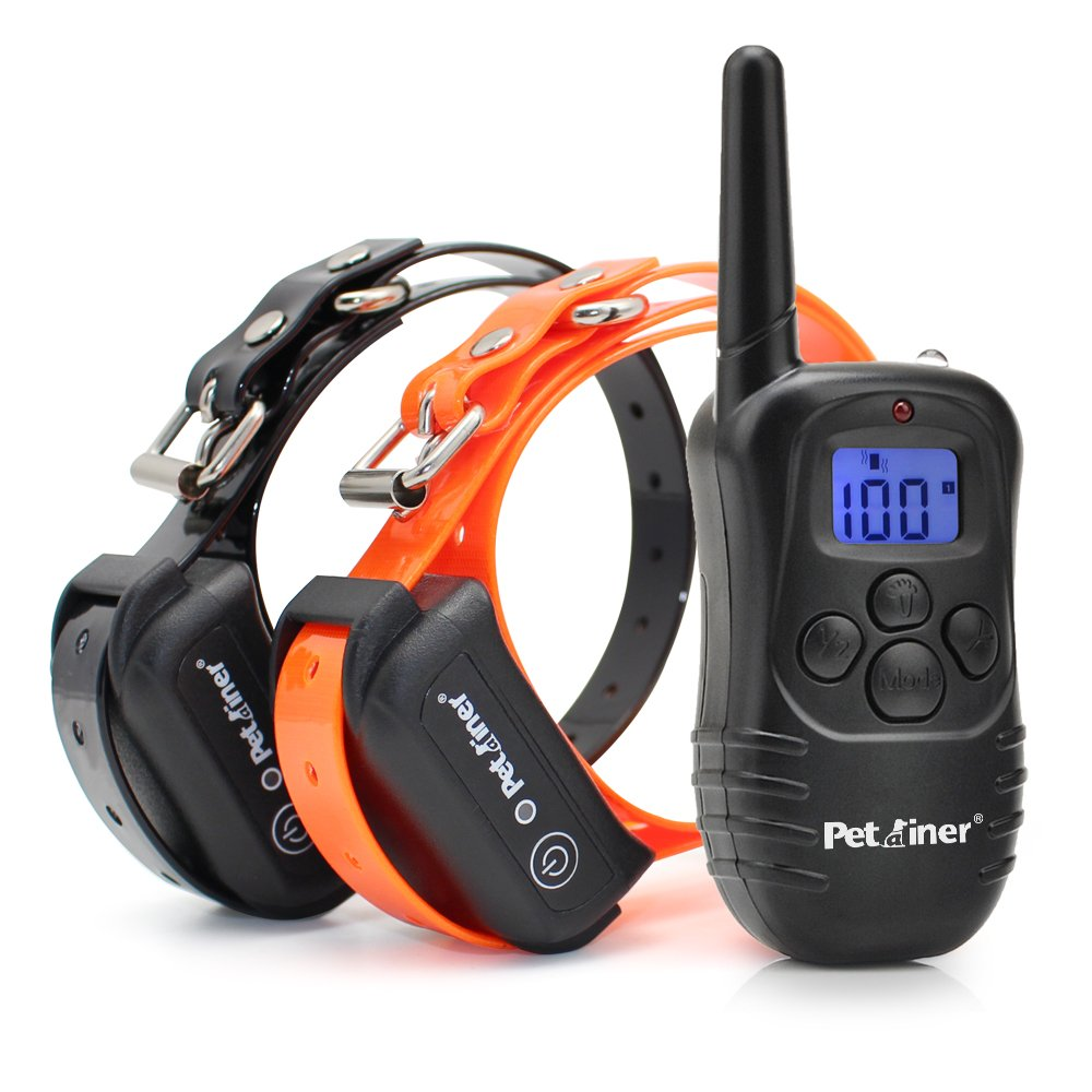OOS Petrainer IS-PET998DB2 Waterproof Rechargeable 330 Yards Remote Dog Training