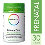 Rainbow Light - Prenatal One Multivitamin, 30 Count, Folic Acid, Probiotic, Iron