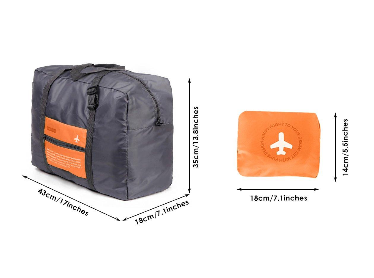 7183b3b1e194 Amazon.com | DEKINMAX Folding Duffle Bag, Water Resistant Portable ...
