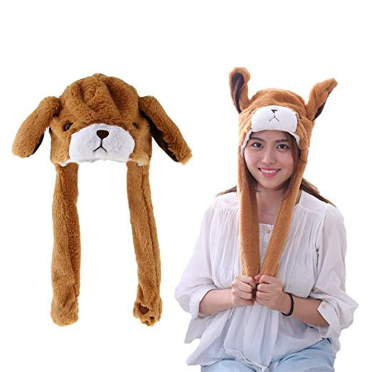 Damenmode Analytical New Plush Stitch Ear Toys Hats Pinching Moving Ears Winter Animals Caps Girls Cosplay Party Performance Costume