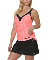 Gerry women 39 s colorblock tankini swimsuit with built in for Swim shirt with built in bra