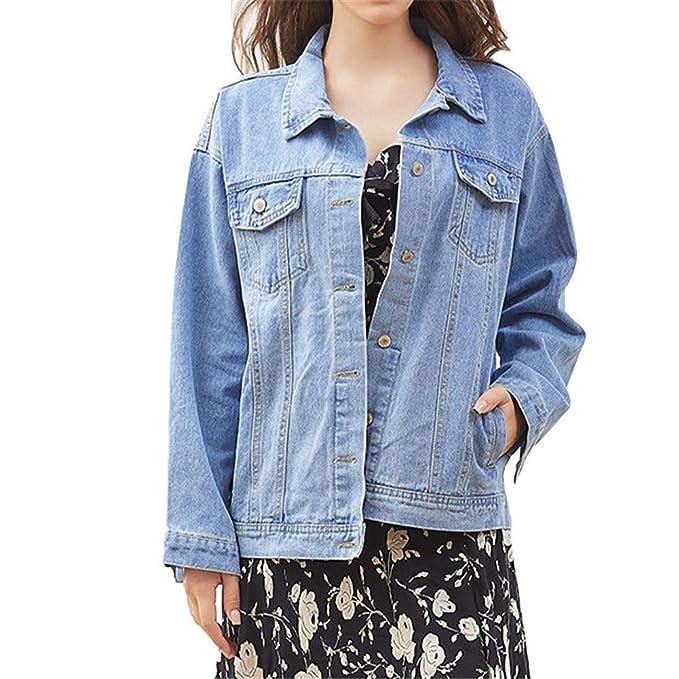 online store bc0f0 4897c Giacca di Jeans Loose Fit Boyfriend Stile Manches Longues ...