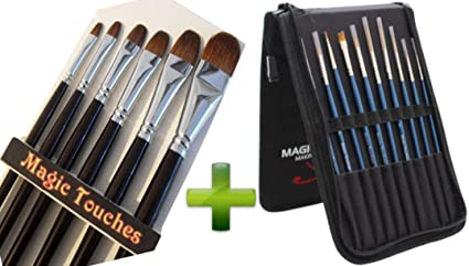 Amazon Com Filbert Paint Brushes Set In Red Sable Bundled