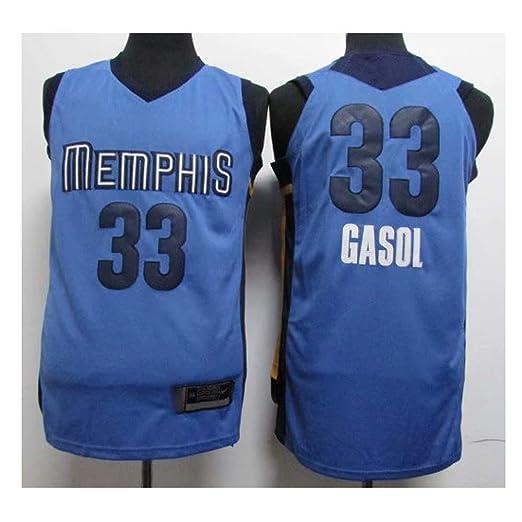 TTHU Hombres Mujeres Jersey De Baloncesto - Memphis Grizzlies # 33 ...