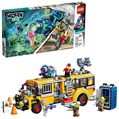 LEGO Hidden Side Paranormal Intercept Bus 3000 70423 Augmented Reality [AR] Building Kit with Toy Bus, Toy App Allows for Endless Creative Play with Ghost Toys and Vehicle, New 2019 (689 Pieces) (New School Buses)