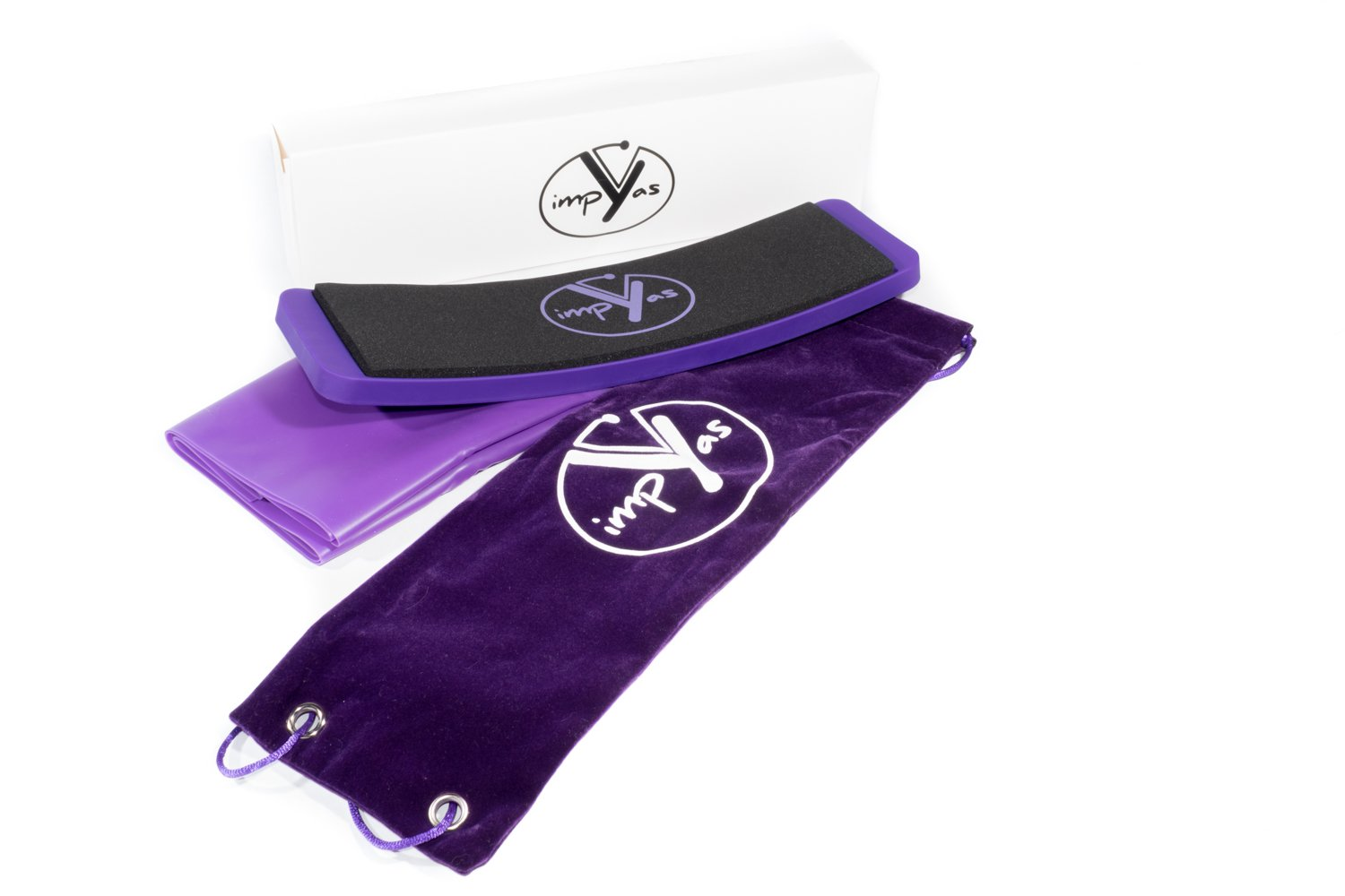 Turn Board - Excellent For Improving Your Pirouettes and Balance, Premium Box with Resistance Band and Carry Bag included, Perfect for Turning Improvement Techniques by Impyas