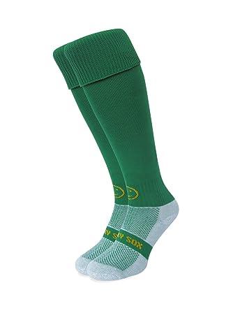 ad350e48c1b3 WackySox Plain Emerald Sports Socks Young Adult Shoe Size 2-6