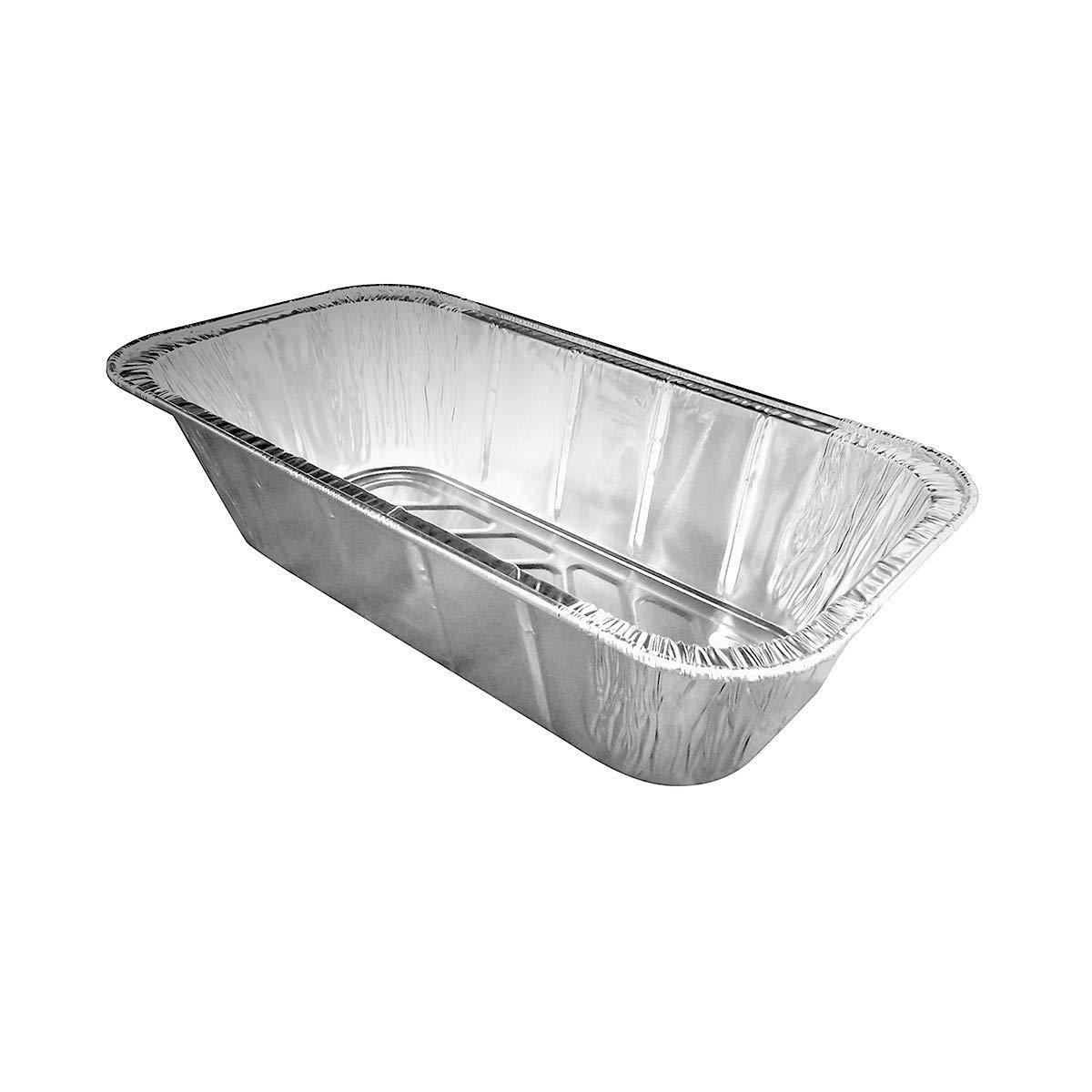 KitchenDance Disposable Aluminum Loaf Pans (50, 5 Pound Loaf)