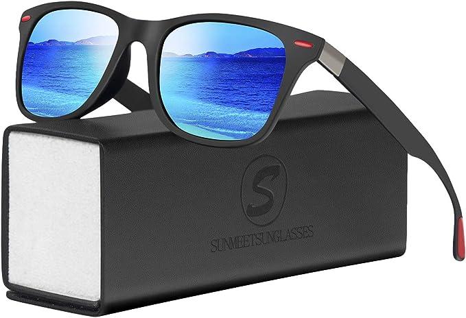 7 opinioni per SUNMEET Occhiali da Sole Polarizzati Moda Occhiali da Sole Donna e Uomo per gli