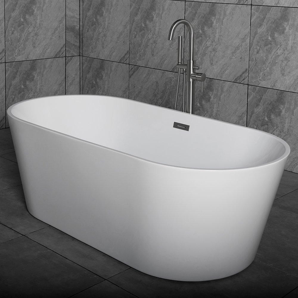 WOODBRIDGE 67-inch Acrylic Freestanding Contemporary Bathtub