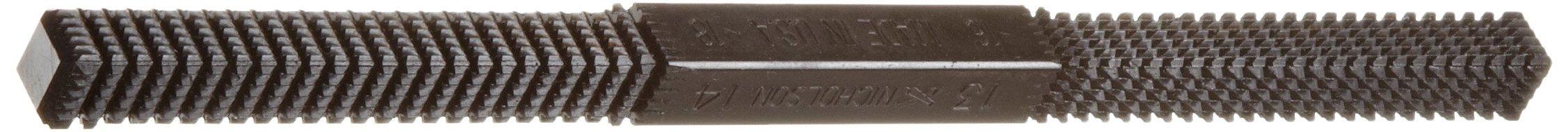 Nicholson Hand File, Thread Restoring, Thread Teeth, Square, Regular Bolt, 6'' Length