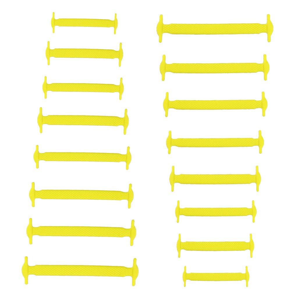 Sharplace Shoelaces für Kinder und Erwachsene Wasserdichte Silikon Flache Elastische Schnürsenkel Sneaker Sportschuhe Brettschuhe Freizeitschuhe