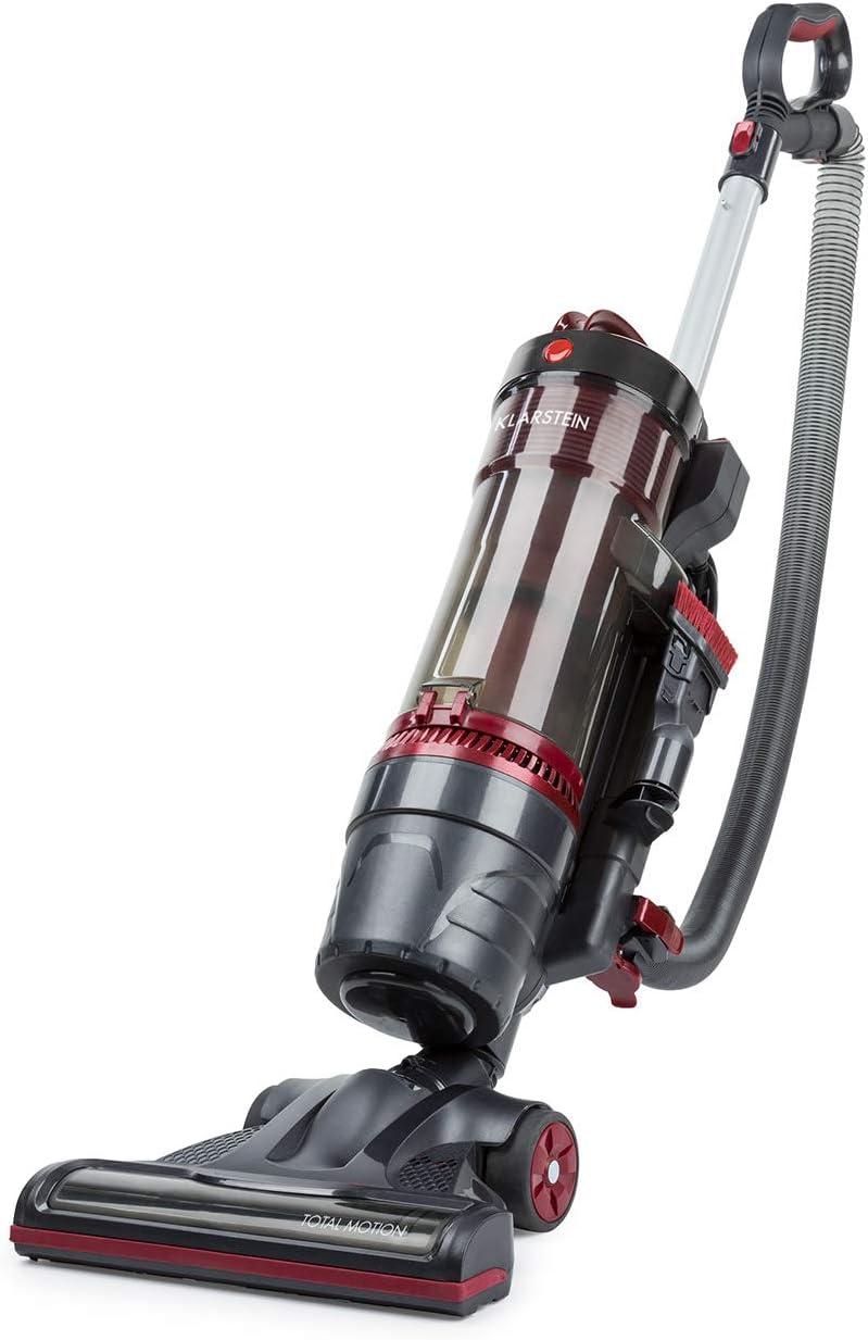 Klarstein Total Motion aspiradora ciclónica - 750 W, Filtro HEPA, Cepillo para alfombras rotatorio, Depósito de 1,5 litros, Antracita/Rosa: Amazon.es: Hogar