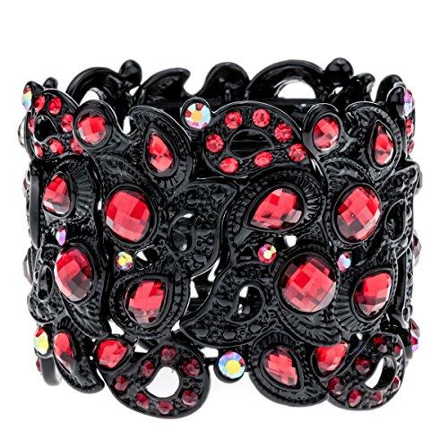 YACQ Angel Jewelry Women's Crystal Flower Stretch Cuff Bracelet Women's Halloween Costume Outfit