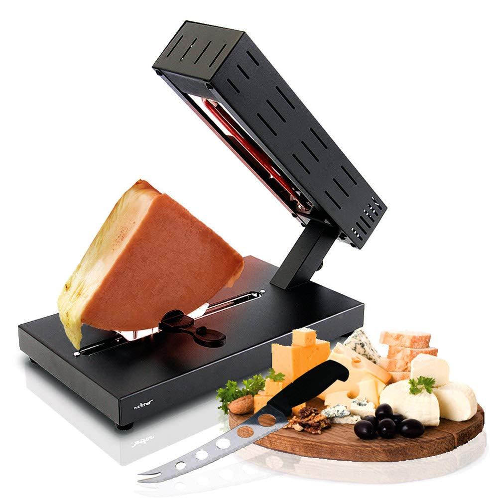 NutriChef PKCHMT26 電動ラレットチーズメルターマシン テーブルトップ ステンレススチール チーズグリル メルティングウォーマーヒーター スイススタイルのチーズソースをポテト バーガー ナチョ パスタ   B07DTG1KWP