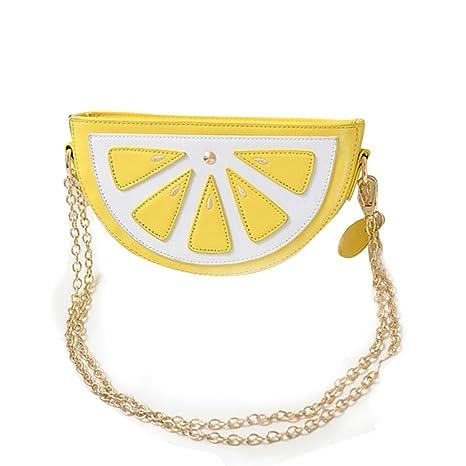 OURBAG Bolso de sandía de limón Linda billetera Bolso de Crossbody de la cadena de moda