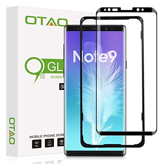 separation shoes 9865a 2b5c5 OTAO Note 9 Screen Protector Tempered Glass, 3D Curved Dot Matrix [Full  Screen Coverage] [Case Friendly] Galaxy Note9 Glass Screen Protector with  ...