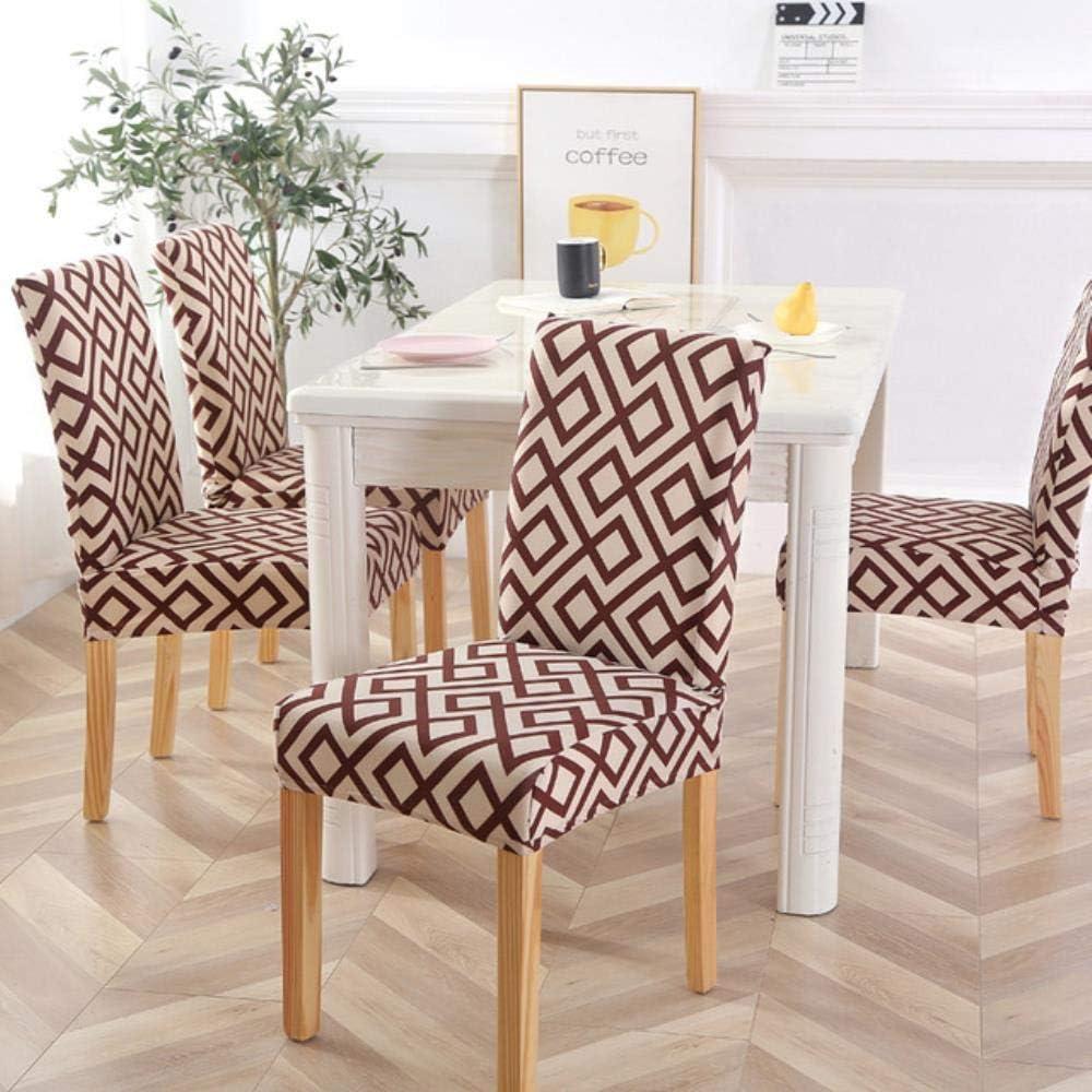 4PCS Fundas para sillas de Oficina Spandex elástico para Comedor Fundas Totalmente envueltas para sillas de Banquete de Hotel para Bodas Color 22 Color 12