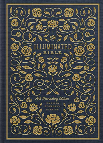 The Holy Bible: English Standard Version, Navy, Cloth over Board, Illuminated Bible: Art Journaling Edition from Crossway Books