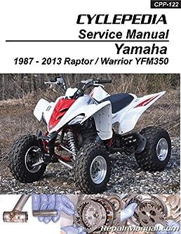 cpp 122 yamaha yfm350 raptor warrior cyclepedia printed atv Yamaha Warrior Atv Wiring